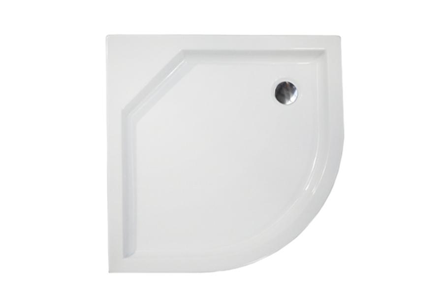 Zénó íves zuhanytálca felülnézet